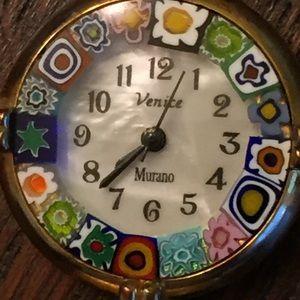 Vintage Venice MOP Murano Glass Watch.